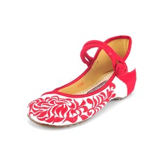 Women's Cloth Others Flats Closed Toe With Button shoes (086094916)