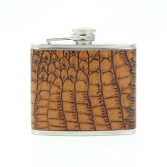 Leopard Design Stainless Steel/Leather Flasks
