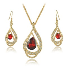 Unique Alloy Crystal With Rhinestone Ladies' Jewelry Sets (137062512)
