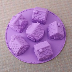 Cute House Shaped Silicone Cake Mould
