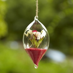 Hanging Olivary Glass Vase