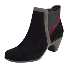 Women's Suede Chunky Heel Boots Ankle Boots shoes