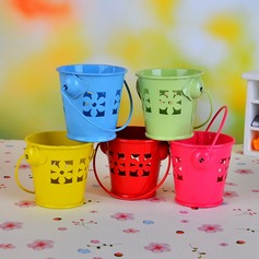 Sweet Flower Bucket Favor Tins and Pails (Set of 12)