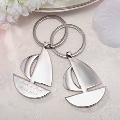 Personalized Sailboat Stainless Steel Keychains