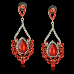 Romantic Alloy/Crystal With Rhinestone Ladies' Earrings