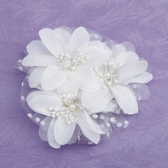 Gorgeous Pearl/Satin/Tulle Hair Flowers