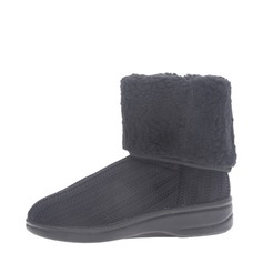 Women's Suede Flat Heel Flats Closed Toe Boots Mid-Calf Boots Snow Boots shoes