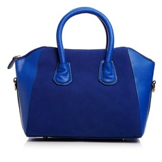 Gorgeous Faux Leather/PU With Metal Top Handle Bags