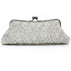 Elegant Satin With Crystal/ Rhinestone Clutches/Evening Handbags