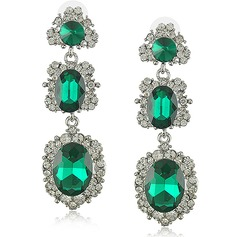 Beautiful Alloy/Crystal With Rhinestone Ladies' Earrings