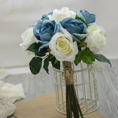 Pretty Hand-tied Artificial Silk Bridesmaid Bouquets