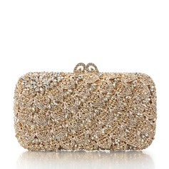 Elegant Crystal/ Rhinestone/Rhinestone/Silver Plated Bridal Purse/Luxury Clutches