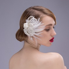 Fashion Rhinestone/Imitation Pearls/Feather Combs & Barrettes/Flowers & Feathers (Sold in single piece)