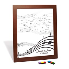 "Personalized ""Happy Melody"" Canvas Signature Platters"