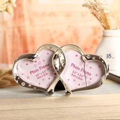 Heart Shaped Silver Plated Photo Frames