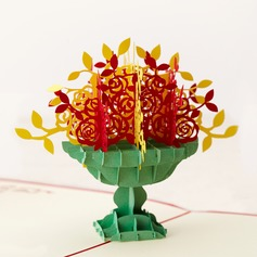 Three-dimensional Beautiful Flowers Greeting Cards