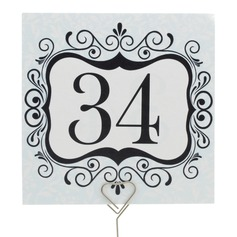 Elegant Pearl Paper Table Number Cards