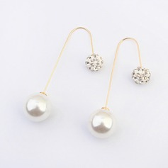 Unique Alloy/Rhinestones With Imitation Pearls Ladies' Earrings