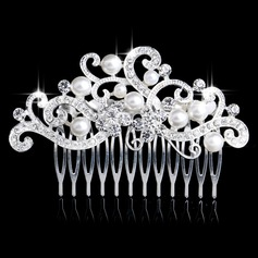 Shining Alloy/Imitation Pearls Combs & Barrettes