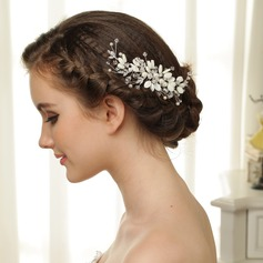 Romantic Czech Stones/Freshwater Pearl Hair Combs