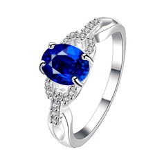 Gorgeous Silver Plated Cotton With Zircon Unisex Fashion Rings