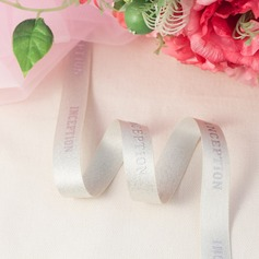 Personalized Hot Silver Letter Satin Ribbon