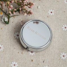 Personalized Plastic/Stainless Steel Compact Mirror