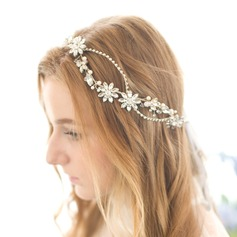 Shining Rhinestone/Alloy/Imitation Pearls Headbands
