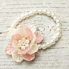 Flower Shaped ABS With Imitation Pearl Ladies' Fashion Bracelets