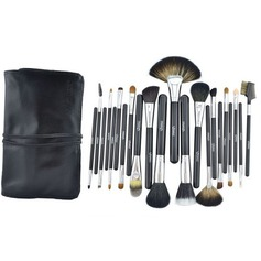 22 Pcs Natural Mink Hair Makeup Brush Set With Pouch