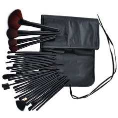 32 Pcs Makeup Brush Set With Black PU Pouch