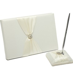 Beautiful Rhinestones Guestbook & Pen Set