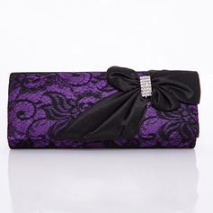 Gorgeous Nylon With Crystal/ Rhinestone/Lace Clutches