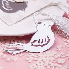 Lovely Birds Stainless Steel Bookmarks With Ribbons/Tassel