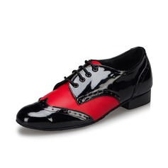 Men's Leatherette Heels Pumps Modern Dance Shoes