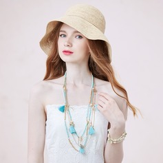 Beautiful Imitation Pearls Beads Natural Stone With Tassels Ladies' Fashion Necklace