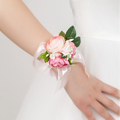 Delicate Free-Form Satin Wrist Corsage