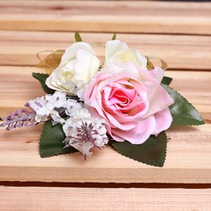 Graceful Free-Form Satin Boutonniere