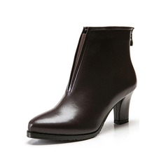 Women's Leatherette Chunky Heel Platform Ankle Boots With Split Joint shoes