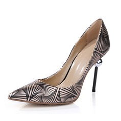 Women's Patent Leather Stiletto Heel Pumps With Jewelry Heel shoes