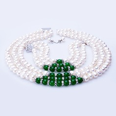 "Charming Jadeite/""A-"" Level Pearl Ladies' Jewelry Sets"