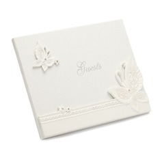 Butterfly Design Resin Rhinestones Guestbook