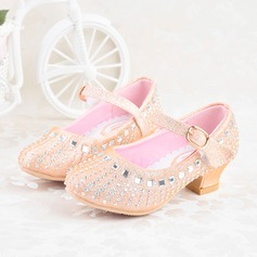 Girl's Sparkling Glitter Flat Heel Closed Toe Mary Jane
