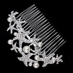 Lovely Rhinestone/Alloy/Imitation Pearls Combs & Barrettes