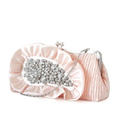 Pretty Satin/Rhinestone Clutches/Wristlets