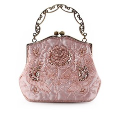 Elegant Satin With Beading/Embroidery Clutches/Top Handle Bags
