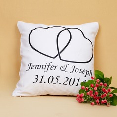Personalized Double Hearts Pillow Case