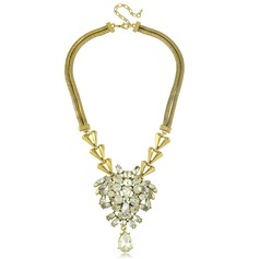 Chic Alloy Resin With Rhinestone Ladies' Fashion Necklace