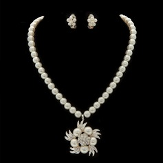 Snowflakes Shaped Alloy/Pearl Ladies' Jewelry Sets