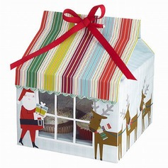 Santa Claus Cupcake Boxes With Ribbons  (050028078)